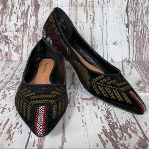 Rampage   Caela Tribal Embroidered Flats